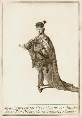 Fernando IV de las Dos Sicilias, con el hábito capitular de Gran Maestre de la Orden Constantiniana