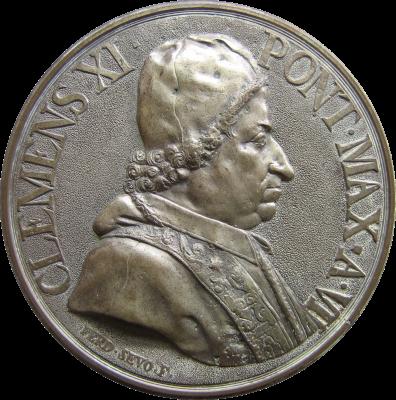 Giovanni Francesco Albani fue uno de los primeros Cardenales-Protectores de la Orden Constantiniana. En 1701 se convirtió en Papa con el nombre de Clemente XI. Favoreció a la Orden con importantes privilegios y fijó la sucesión en el Gran Magisterio en la descendencia primogénita masculina de los Farnesio