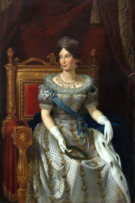 La emperatriz María Luisa de Austria, Duquesa de Parma, fundadora de una orden al mérito que adoptó la misma denominación e insignias que la Orden Constantiniana en 1816