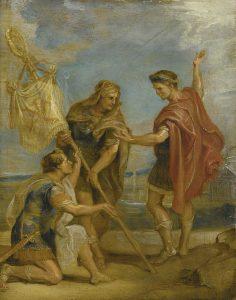 Constantino presenta el lábaro a sus tropas. P.P. Rubens
