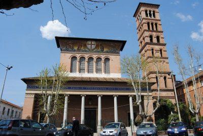 Basílica de la Santa Cruz en Vía Flaminia (Santa Croce al Flaminio), cuya Capilla de San Jorge pertenece a la Orden Constantiniana
