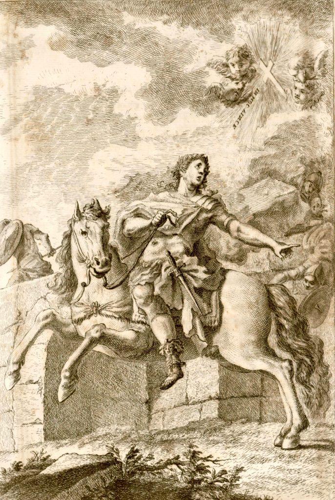 Visión de Constantino en ponte Milvio--[In-MUSENGA-Iconografia o sia descrizione in figura]
